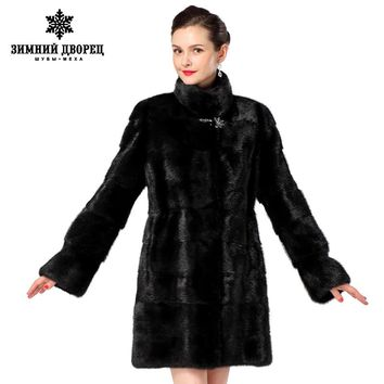 2016 Women fur coats,Genuine Leather,Three colors styles mink coat ,Fashion Slim Winter coats of fur,sell well natural fur