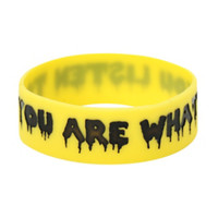 You Are What You Listen To Rubber Bracelet