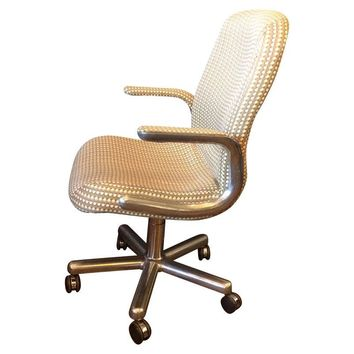 Pre-owned Mid-Century Aluminum Swivel Office Chair