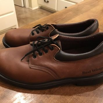 Red Wing Shoes 11.5 D Model 105 Brown Leather Work Oxford VTG Dress - USA
