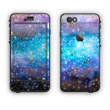 The Glowing Space Texture Apple iPhone 6 LifeProof Nuud Case Skin Set