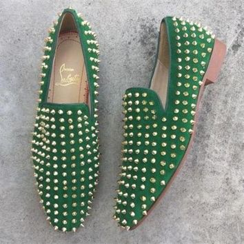 DCCK2 Cl Christian Louboutin Loafer Style #2346 Sneakers Fashion Shoes
