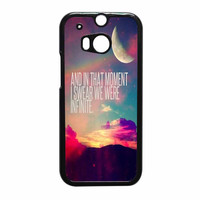 Perks Of A Wall Flower Quote Design Vintage Retro HTC One M8 Case