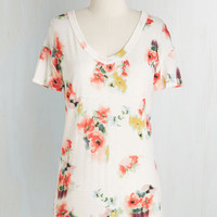 Mid-length Short Sleeves First Impressionist Top