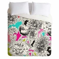 District17: Couture Home Floral 2 Lightweight Duvet Cover: Duvet Covers & Comforters