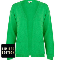 Green unfastened cardigan - cardigans - knitwear - women