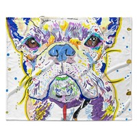 "Rebecca Fischer ""Niko"" French Bulldog Fleece Throw Blanket"