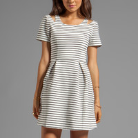 MINKPINK Hello Sailor Dress in White/ Black from REVOLVEclothing.com