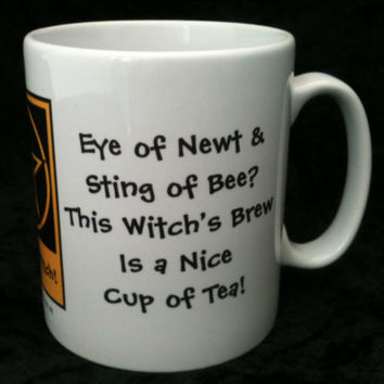 This Witch's Brew is a Cup of Tea! Pagan Wiccan Mugs designed by Cheeky Witch