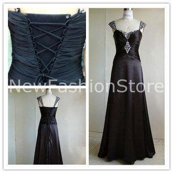 New Fashion Sleeveless Floor Length Beading Prom Party Dress