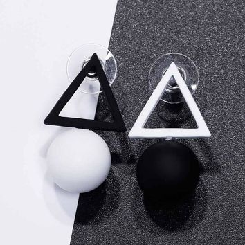 Triangle Different Candy Color Earrings For Women Stud Earrings From Korean Earings Jewelry