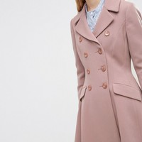 ASOS Double Breasted Skater Coat at asos.com