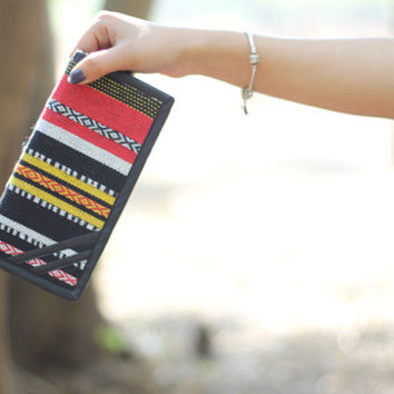 Aztec Wallet/Gift For Her, Multicoloured Woman wallet,wristlet phone clutch,iphone wallet wristlet,bridesmaid clutch,envelop clutch