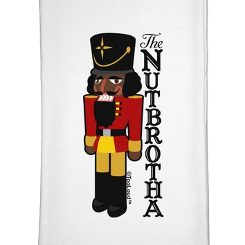 The Nutbrotha - Black Nutcracker Flour Sack Dish Towels by TooLoud