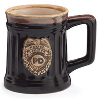 Police Officer Porcelain Coffee Mug with Police Department Crest Stein
