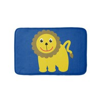 Happy lion bathroom mat