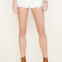 Embroidered Crochet Shorts | Forever 21 - 2000186059