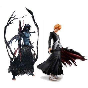 Cool 19cm 22cm Bleach Anime Kurosaki Ichigo Getsuga Tenshou PVC Action Figure Collection Model Toy