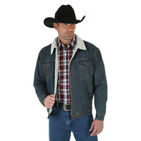 Wrangler® Western Styled Sherpa Lined Denim Jacket Rustic | Mens Jackets and Outerwear by Wrangler®