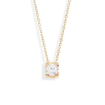 Classic Crystal Charm Necklace
