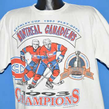 90s Montreal Canadiens Stanley Cup 1993 t-shirt Extra Large