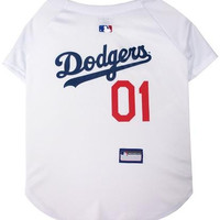 Los Angeles Dodgers Baseball Dog Jersey Large