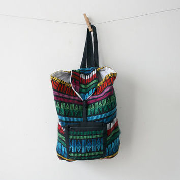 SALE Woven Textile Backpack
