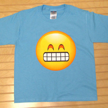 Kids Printed TShirt Big Smile Emoji
