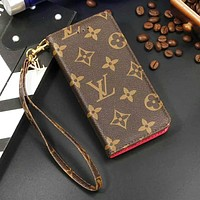 Louis Vuitton LV Fashion New Monogram Tartan Leather Women Men Mobile Phone Case Cover