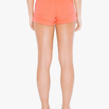 Colored High-Waist Jean Cuff Short | American Apparel