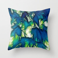 And The Leaves Were Telling Secrets To The Wind Throw Pillow by Ally Coxon   Society6