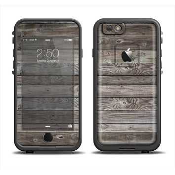 The Rough Wooden Planks V4 Apple iPhone 6 LifeProof Fre Case Skin Set