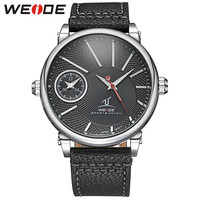 Universe Series Luxury Dress Men Watches Quartz Movement Silver Black Dial Waterproof  Leather Strap Watches