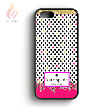 Kate Spade Floral Polka Dot iPhone 5 Case iPhone 5s Case iPhone 5c Case