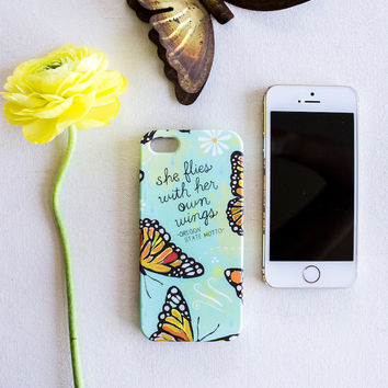 Her Own Wings 5/5s iPhone Case