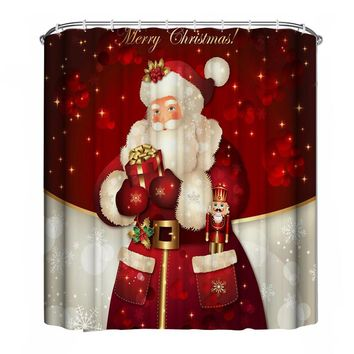 180cm*180cm Bathroom Shower curtain Holiday Design