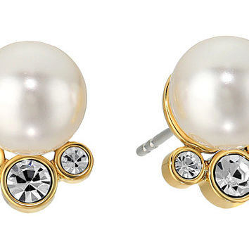 Michael Kors Modern Classic Pearl and Crystal Stud Earrings