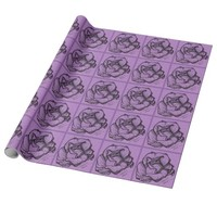 Purple Rose Wrapping Paper