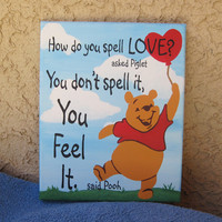 Nursery Feel Love 16 x 20 Original Hand Painted Wall Art Canvas Quote