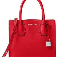 MICHAEL Michael Kors Studio Mercer Medium Bonded-Leather Messenger | macys.com