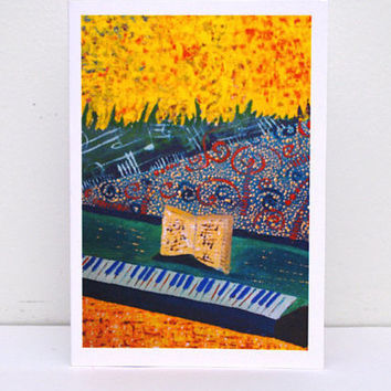 Paper Piano gift Music greeting card Piano teacher gift Classical Musician Pianist gift for music lover Piano art Piano keys Piano player