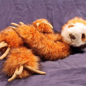 New for February 2014, Sully Sloth, downloadable PDF  sewing pattern to make your own three-toed sloth stuffed animal