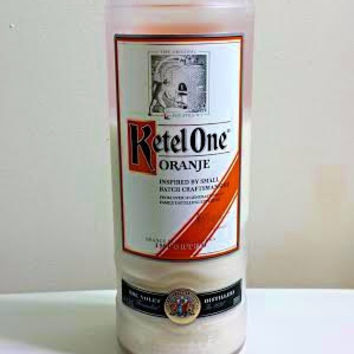 FREE SHIPPING Kettle One Orange Vodka Bottle Soy Candle NEW!