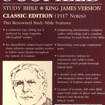 KJV Old Scofield Study Bible: Classic Edition - Burgundy Bonded Leather (Indexed) - The Scofield Bible - Study Bibles - Bibles
