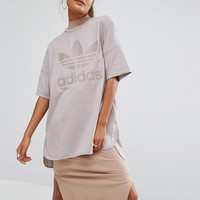 adidas Originals Oversized T-Shirt With Trefoil Logo at asos.com