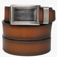 Cognac Premium Full Grain Leather Belt