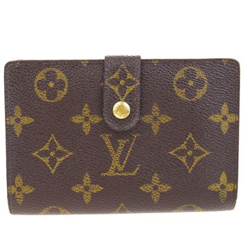 Auth LOUIS VUITTON Viennois Bifold Wallet Purse Monogram Leather M61663 09Q206