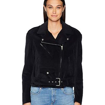 BELSTAFF Langtry Cotton Velvet Moto Jacket