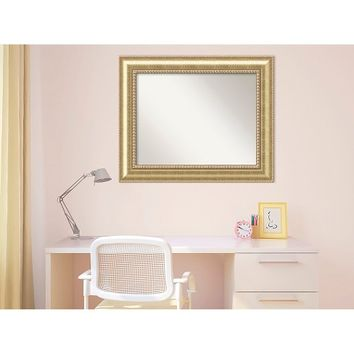 Rectangle Astoria Decorative Wall Mirror Gold - Amanti Art