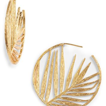 gorjana Palm Profile Hoop Earrings | Nordstrom